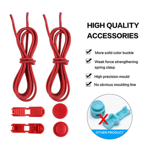 No Tie Elastic Shoe Laces (1 Pair)