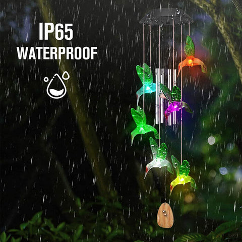 Solar Hummingbird Wind Chimes