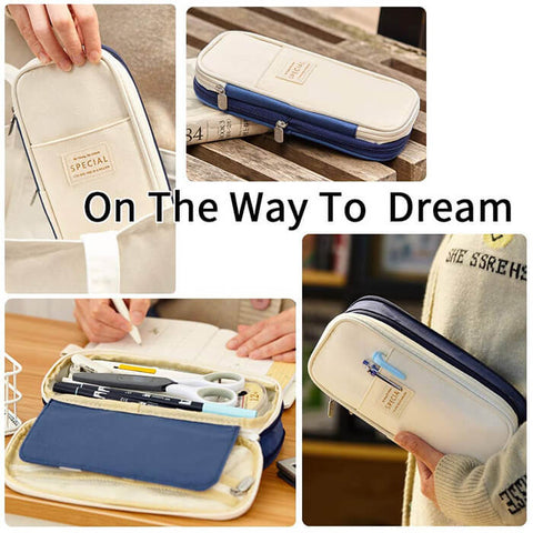 Large Capacity Pencil Case Stationery Organizer