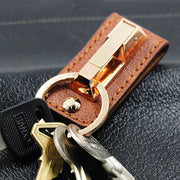 Leather Belt Keychain for Men
