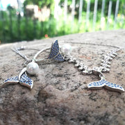 Sterling Silver Mermaid Necklace/ Bracelet/ Ring/ Earrings
