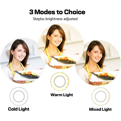 LED Selfie Ring Light with Phone Holder - Luckybudmall
