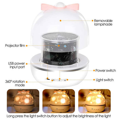 Galaxy Projector Night Light with Music Box