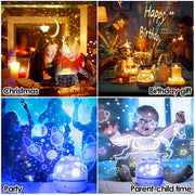 Star Projector Night Light with Wind-Up Music