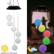 Unique Solar LED Tube Wind Chimes