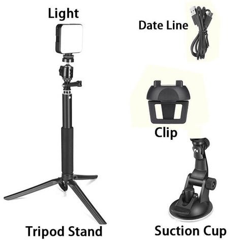 Video Conference Lighting with Tripod Stand & Suction Cup