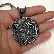 Witcher 3 Wolf Medallion Necklace - Luckybudmall