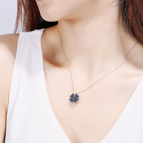 S925 Silver Four-Leaf Clover Necklace - Luckybudmall