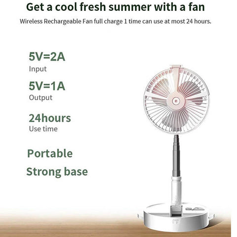 Electric Portable Folding Hydrating Fan - Luckybudmall