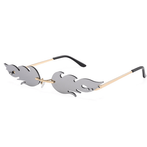 Fire Flame Sunglasses Mirrored - Luckybudmall