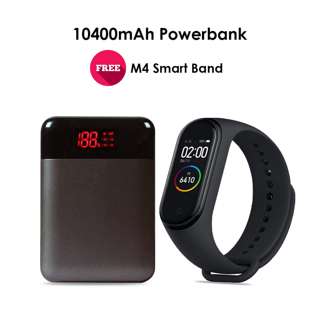 10400 mAh Powerbank With M4 Smart Band