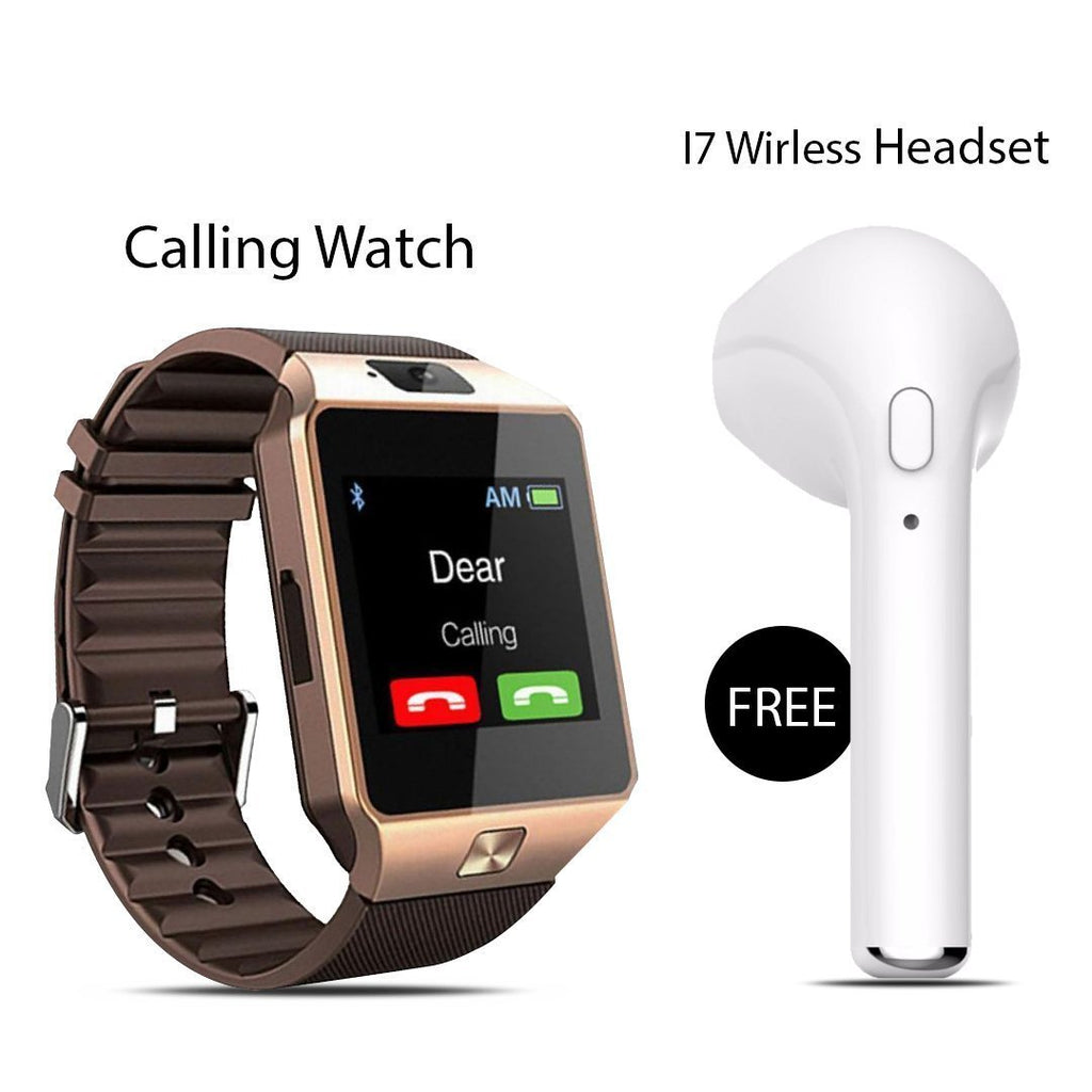 DZ09 Calling Watch  With Free I7 Wireless Headset