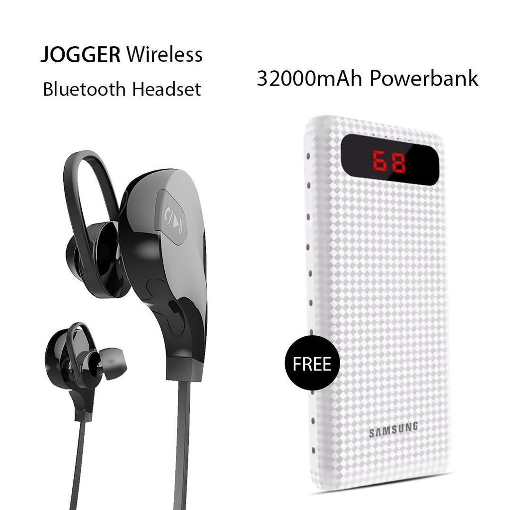 Buy Online Sports JOGGER Wireless Bluetooth Headset & Get 32000mAh  Power Bank Free