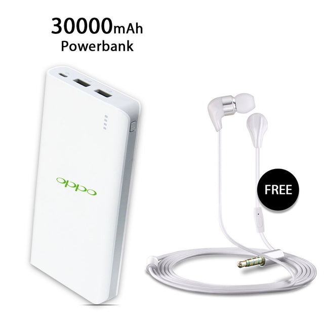 30000 mAh Power Bank with free Earphone