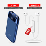 Buy 32000mAh Power Bank With Free Sports Wireless Headset