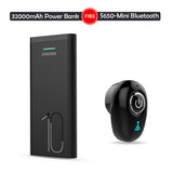 Branded 32000 mAh Powerbank With Mini Wireless Bluetooth Earphone