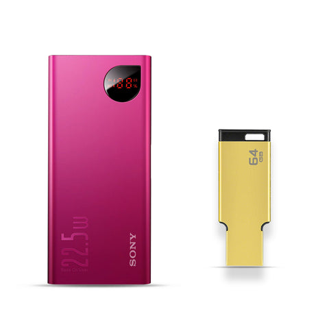 32000mAh Power Bank With Free 64GB Pendrive