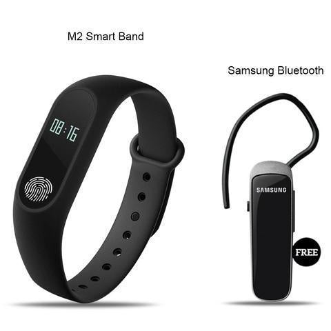 Mi Plus M2 Smart Fitness Band With Bluetooth Headset Free