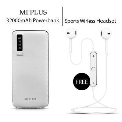 Fast Charging 32000mAH Power Bank with Sports Bluetooth Headset