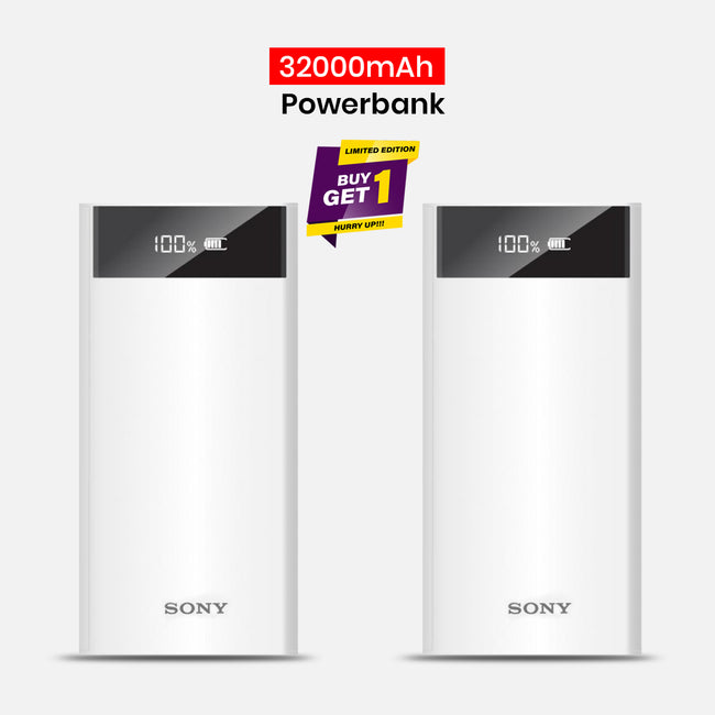 Buy 1 Get 1 Free 32000mAh Power Bank