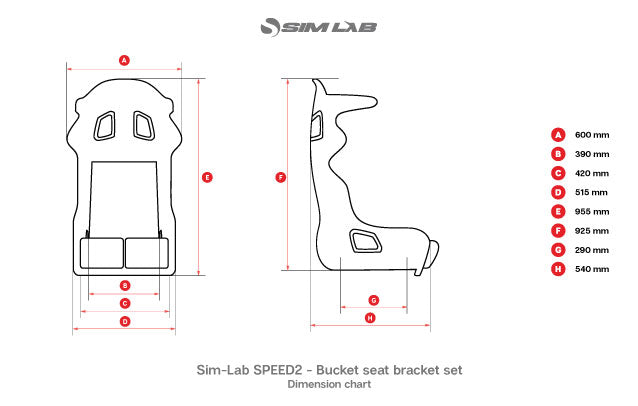 Sim-Lab SPEED2 Bucket Racing Seat   FREE UK Delivery