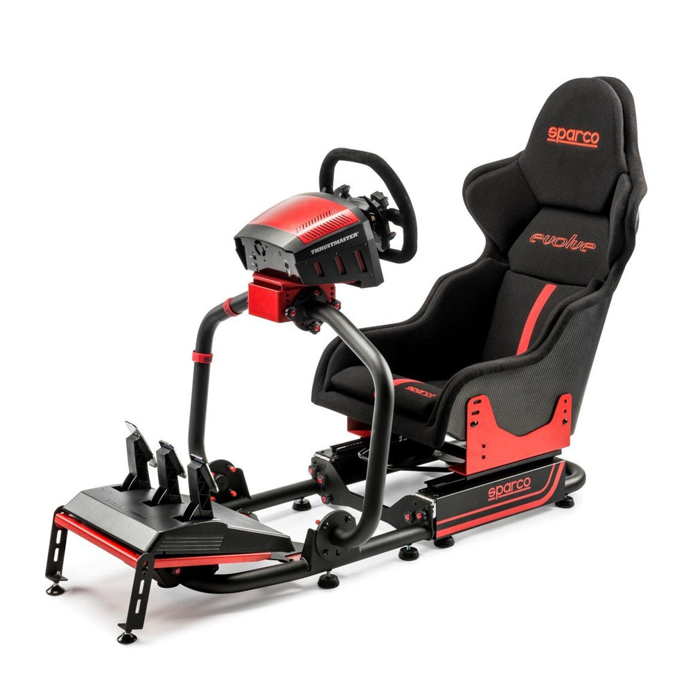 Sparco Evolve-C - Full View with Thrustmaster pedals and wheels