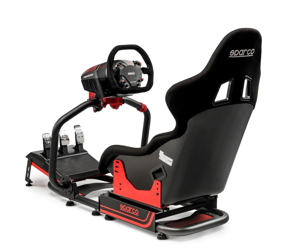 Sparco Evolve PRO 2000 - Back View with Thrustmaster pedals and wheels
