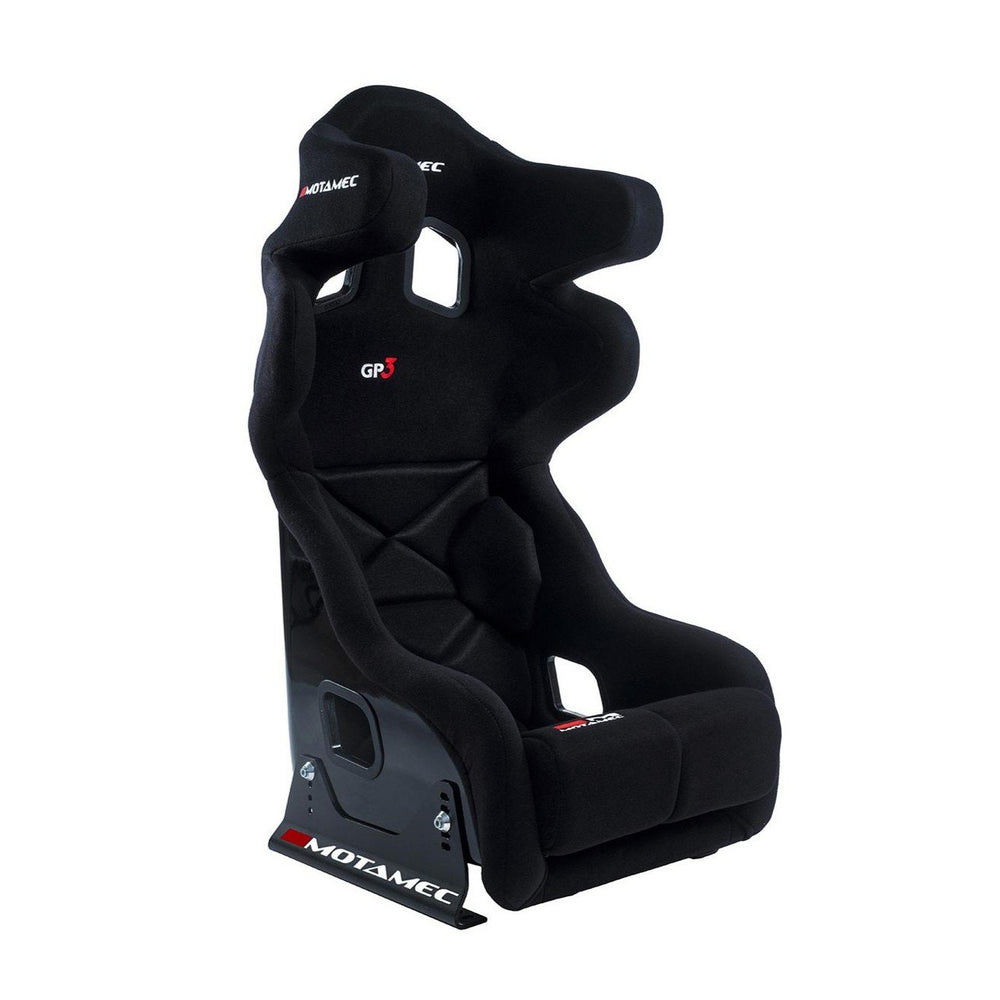Motamec Racing GP3 Race Seat Fiberglass Shell BLACK