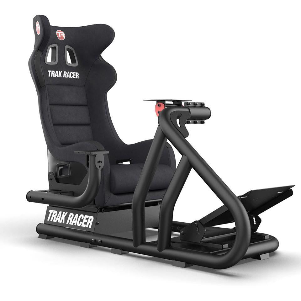 "Trak Racer RS6 Mach 3 Sim Racing Cockpit + Single 22""- 70"" Monitor Stand BUNDLE"