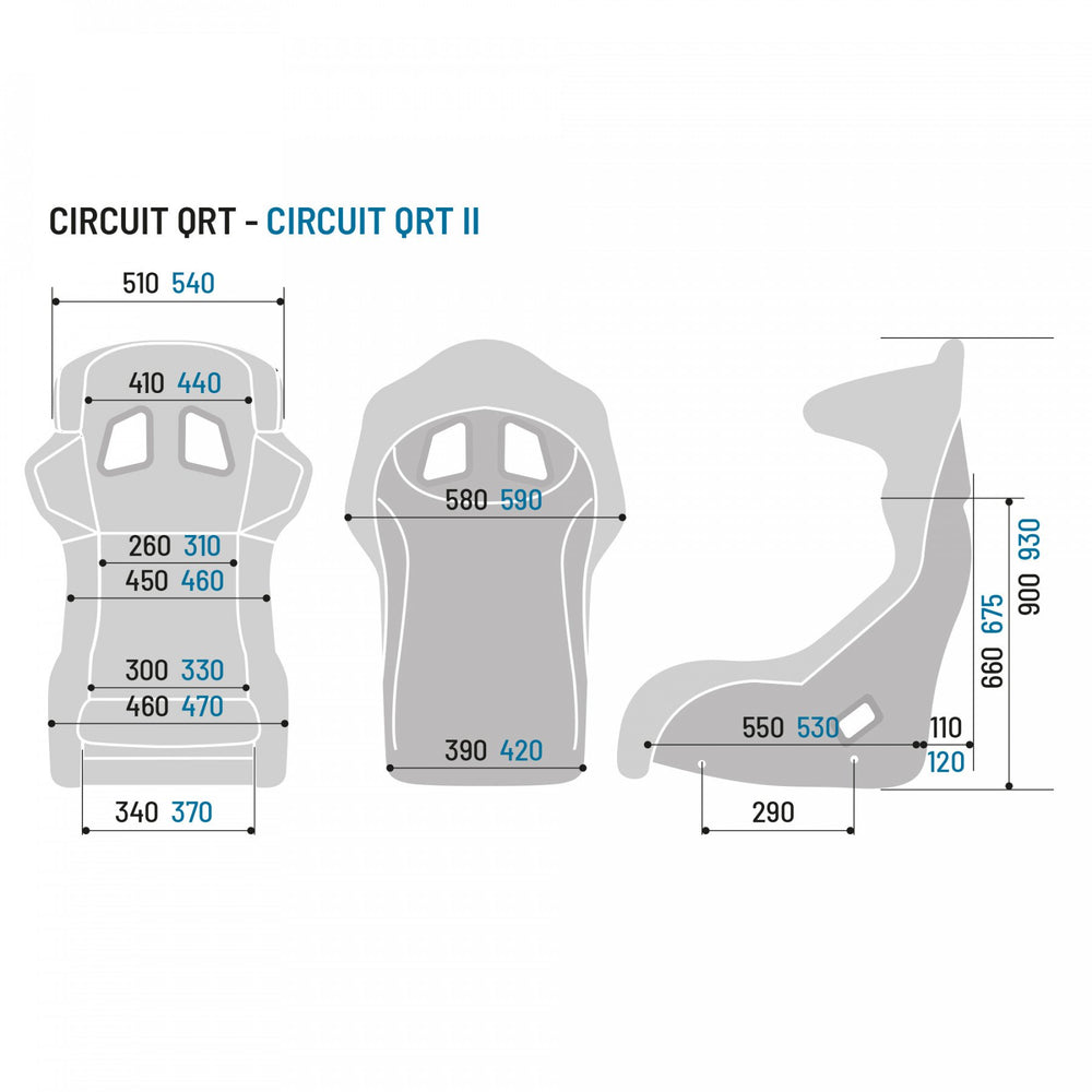 Sparco CIRCUIT II QRT GAMING Sim Racing Seat