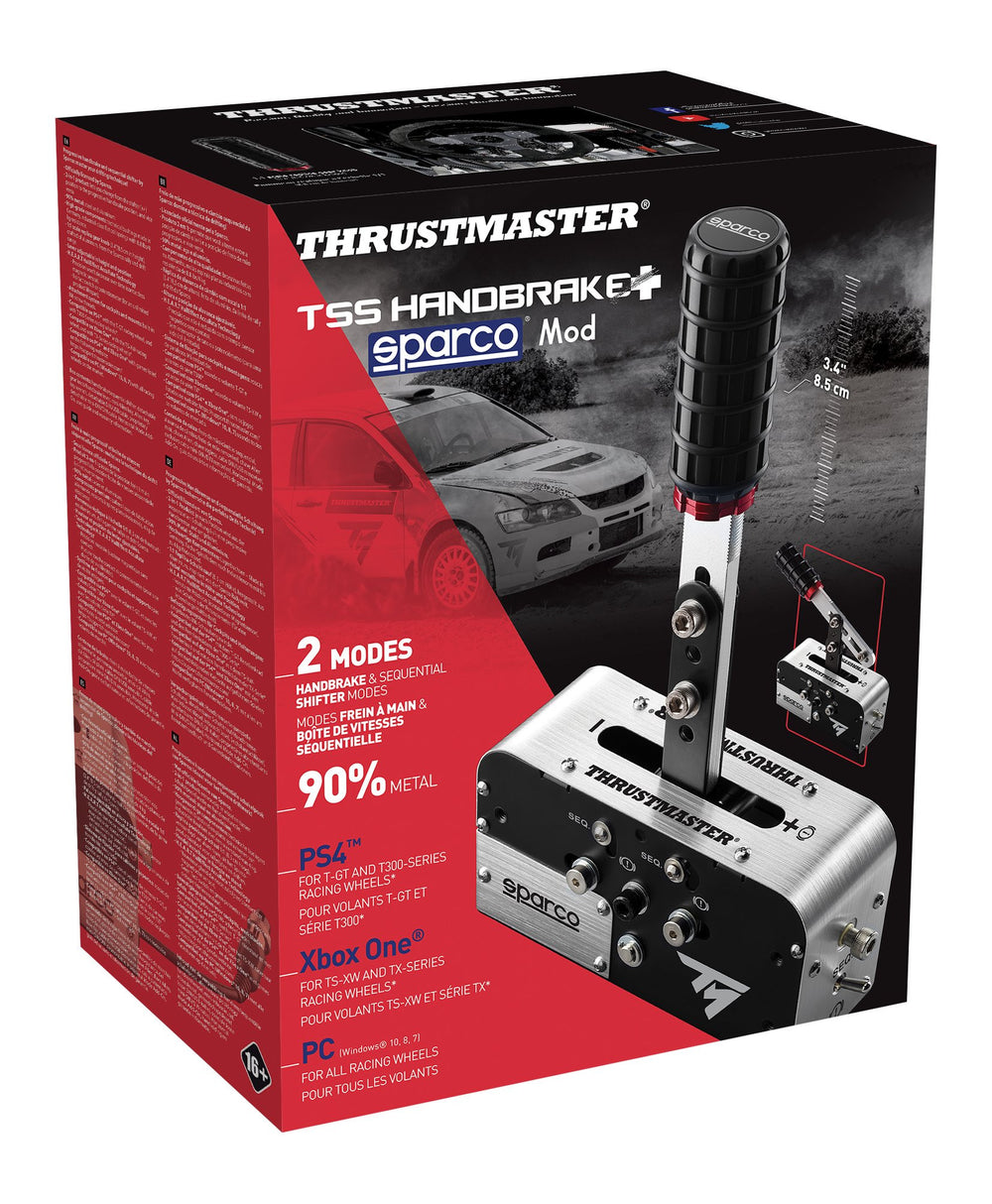 Thrustmaster TSS Handbrake Sparco Mod + Handbrake and Sequential Shifter PS4 and Xbox One - Packaging