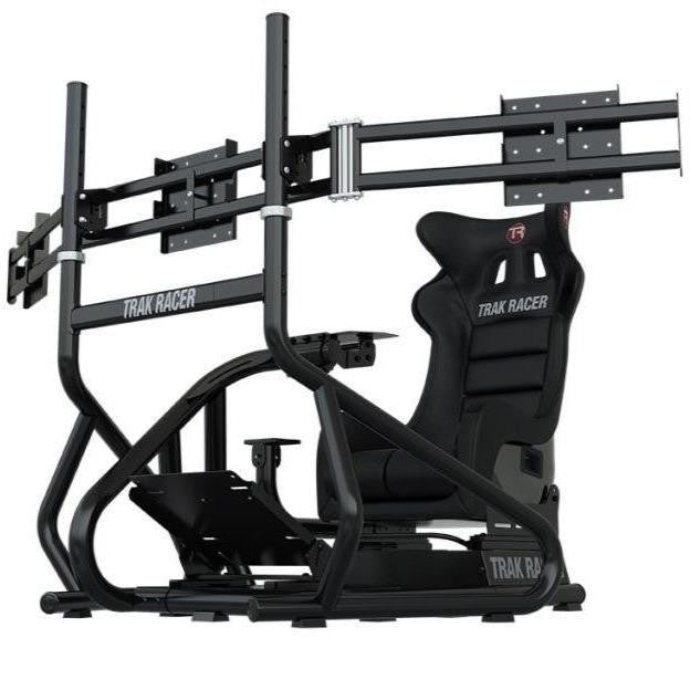 "Trak Racer RS6 Mach 3 Sim Racing Cockpit + Triple 22""-34"" Monitor Stand BUNDLE"