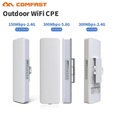 2.4G & 5G Comfast outdoor CPE bridge 150Mbps & 300Mbps long range Signal Booster extender Wireless AP 14dbI outdoor access point