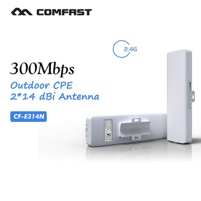 300Mbps WIFI outdoor wireless bridge router 2.4Ghz WIFI Signal Booster Amplifier CPE for camera project COMFAST CF-E314N
