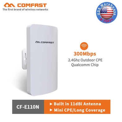 Hot Comfast outdoor mini cpe 11dbi Antenna wi-fi 300Mbps wifi router & wifi extender repeater & network bridge 1-2km Nanostation