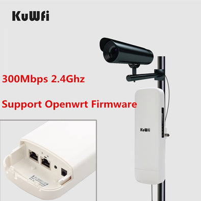 Openwrt Firmware 3KM Long Range Outdoor CPE WIFI Router 2.4G 300Mbps Wireless AP WIFI Repeater Access Point WIFI Extender Bridge