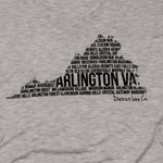 Arlington, VA | Women's Long Sleeve Tee | Light Gray