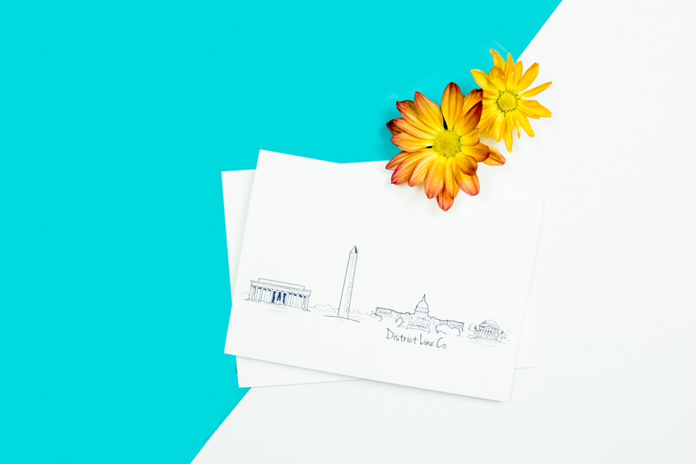 DC Skyline Notecard- Single