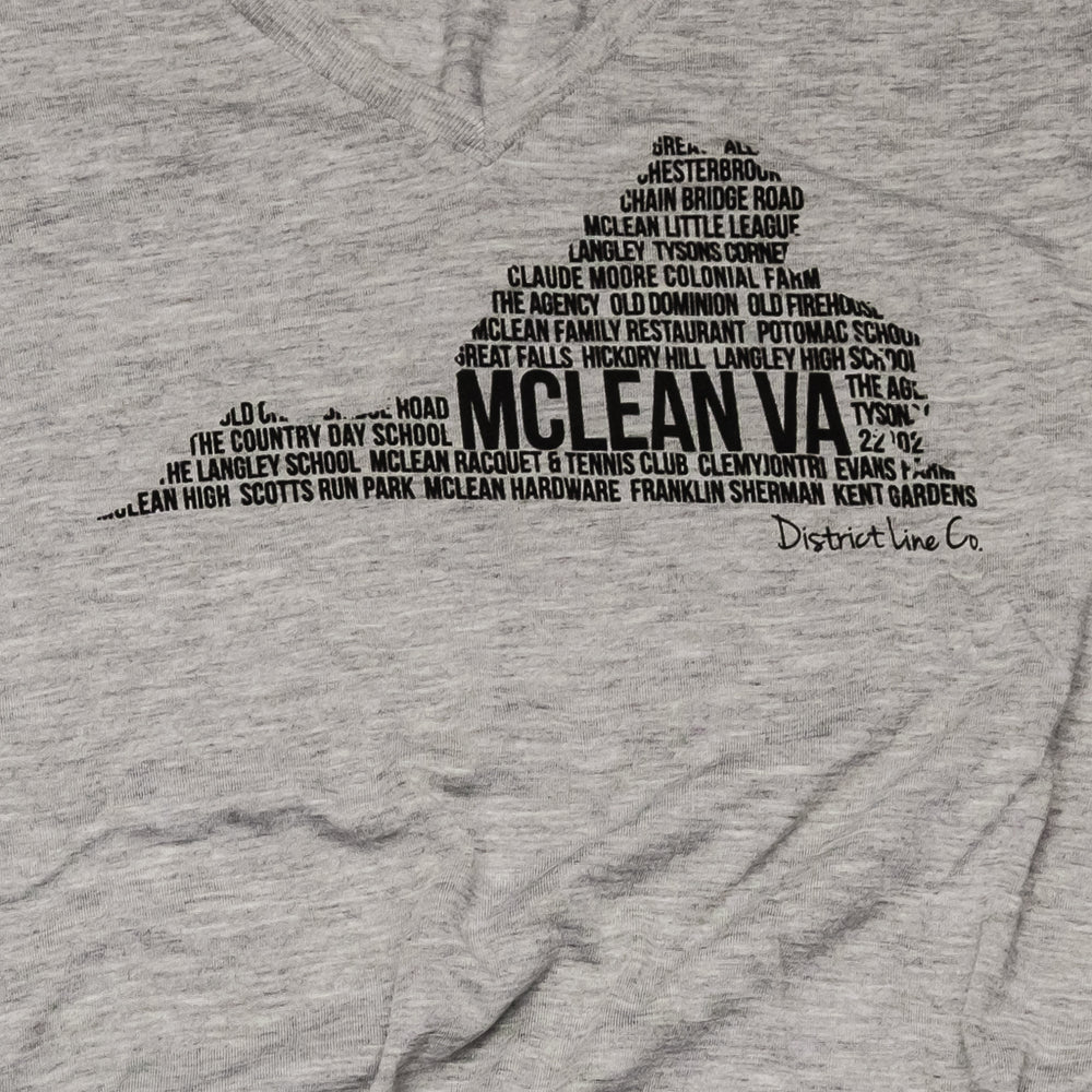 McLean, VA | Women's Long Sleeve Tee | Light Gray