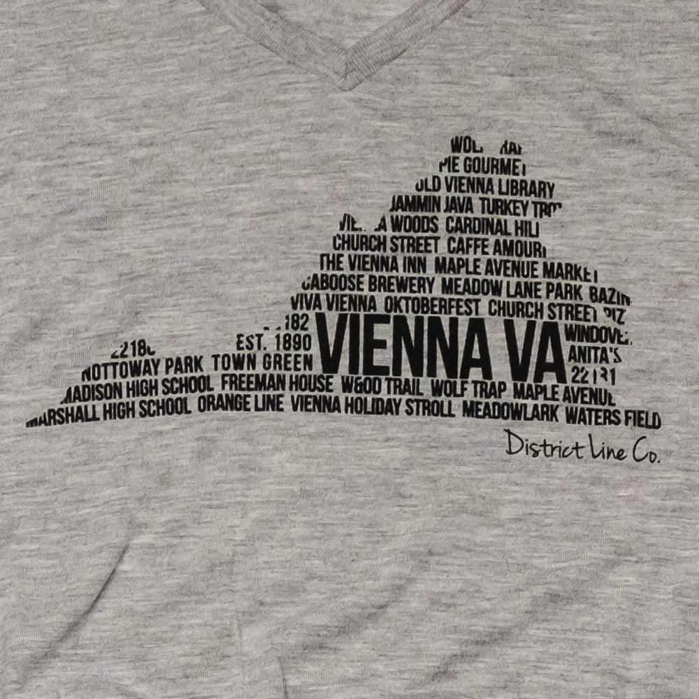 Vienna, VA | Women's Long Sleeve Tee | Light Gray