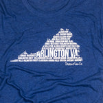 District Line Co. | Arlington, VA Women's Shirt | Navy | Signature | Arlington, VA | This Is My Local