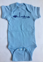 DC Skyline | Baby Onesie | Light Blue