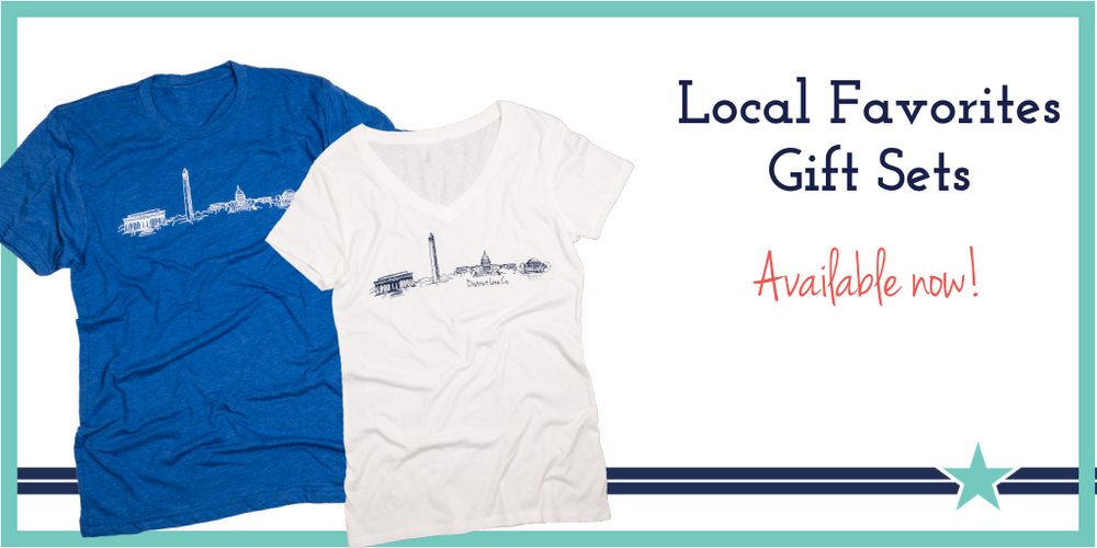 Local DC Favorites Gift Sets- 2 Bestselling Tees + 6-pack of Notecards