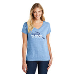 Virginia: Fun Side of the River | Women's T-Shirt | Heather Light Blue