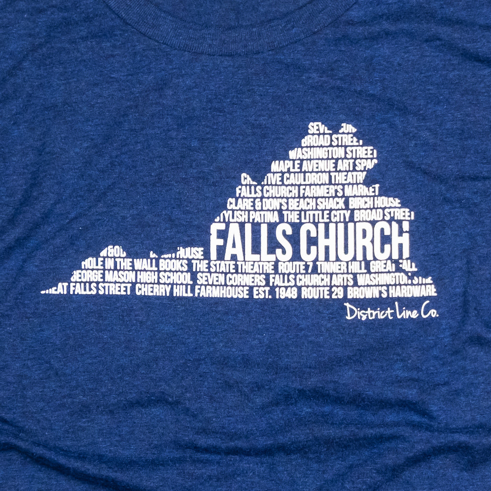Falls Church, VA | Women's Tee | Navy