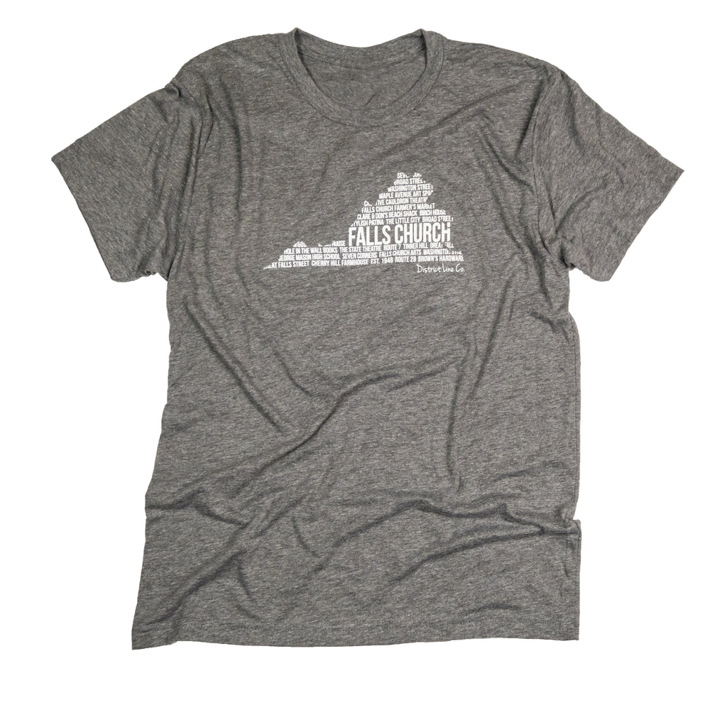 Falls Church, VA | Unisex Tee | Gray