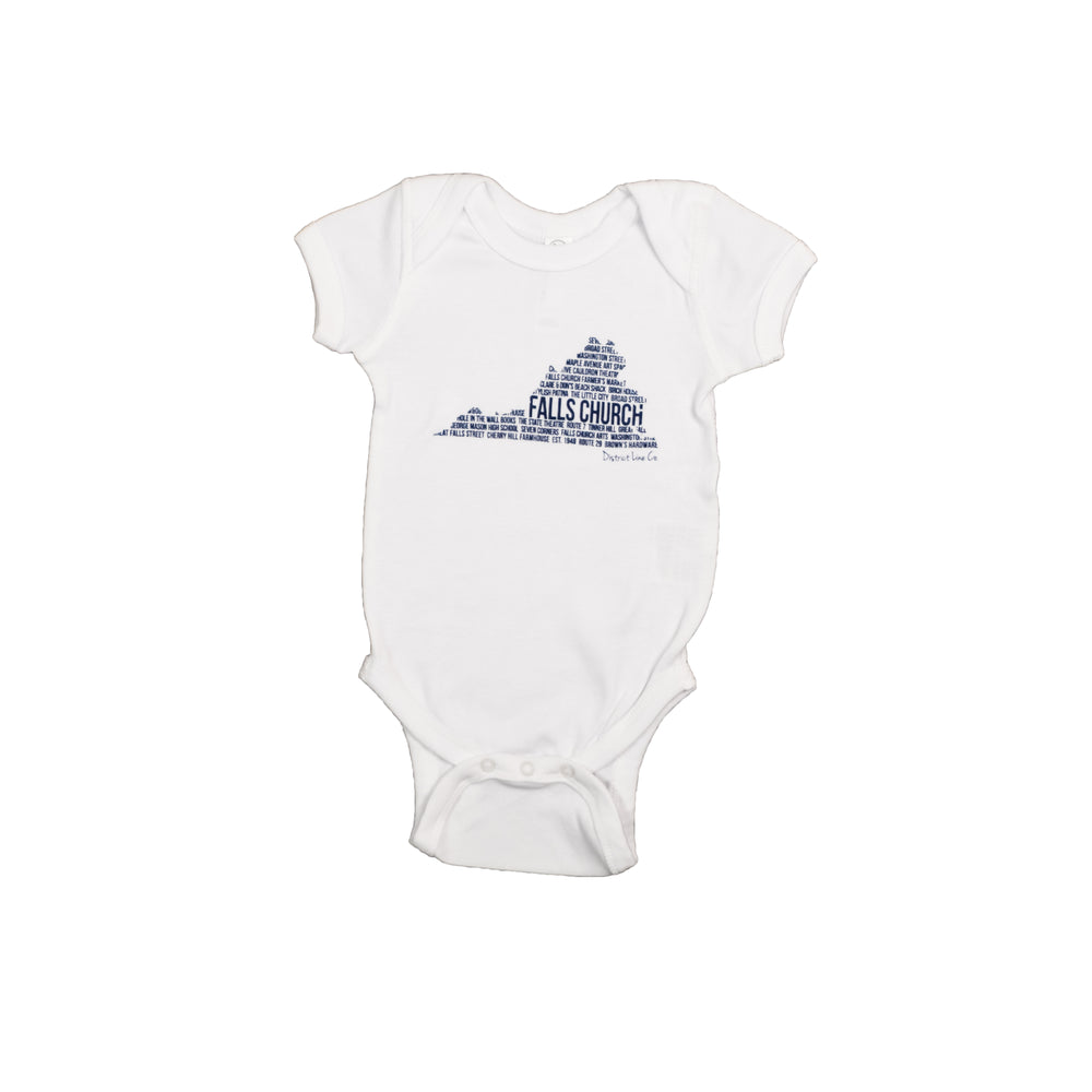 Falls Church, VA | Baby Onesie | White