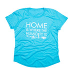 Home is Where the Humidity Is | Women's T-Shirt | Turquoise Blue