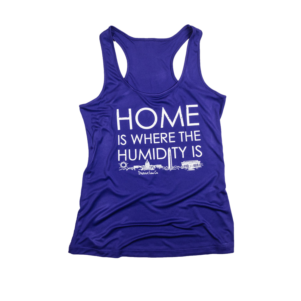 Home is Where the Humidity Is | Women's Running Tank | Purple