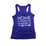 District Line Co. | Home is Where the Humidity Is Women's Tank | Purple | Humidity